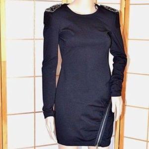 Ali Ro Black Studded Stretch Jersey Mini Dress 4